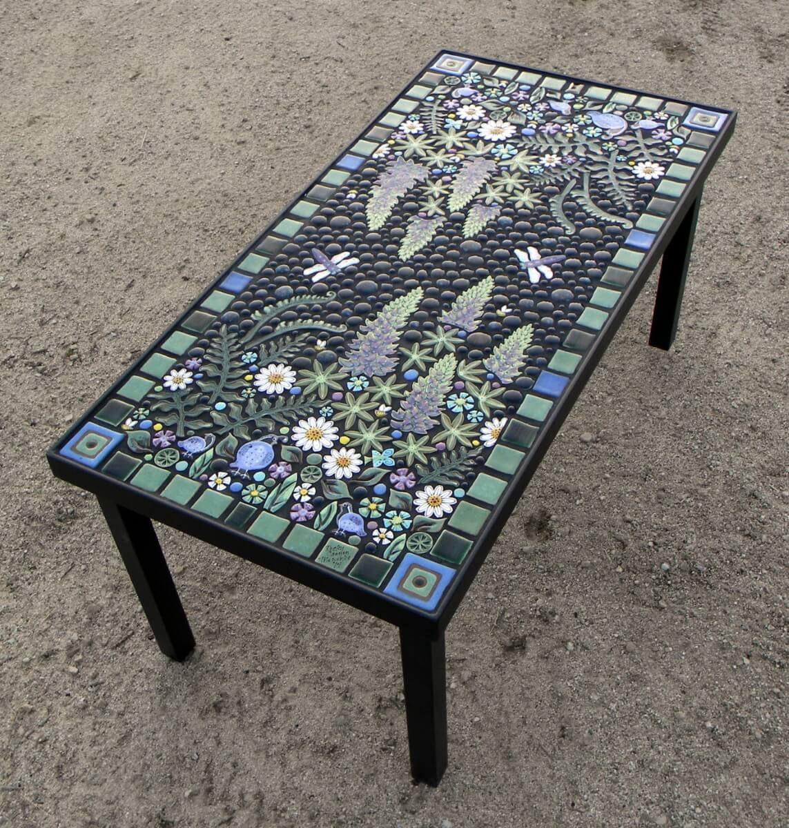 Floral Mosaic Table