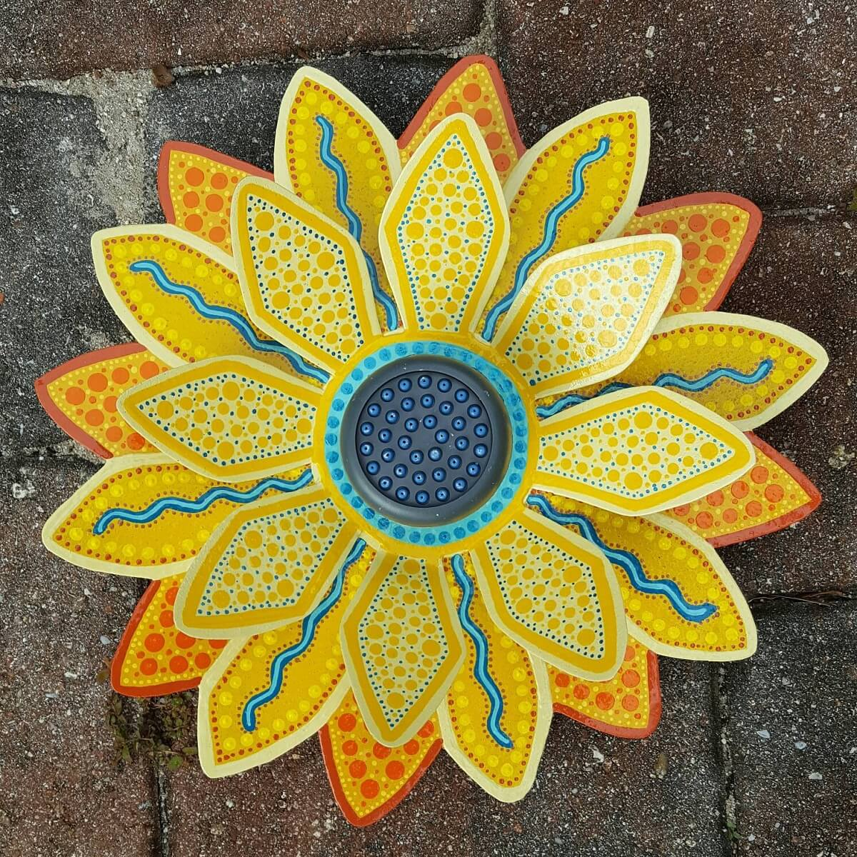 Outdoor Sunflower Shower Head