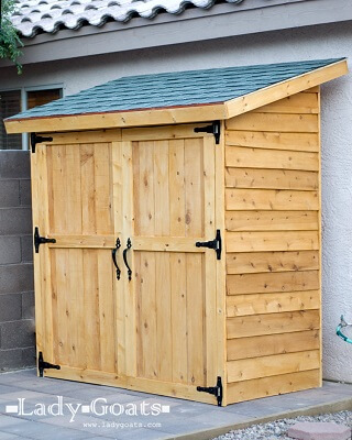 Small Cedar Picket Fence Shed Plans