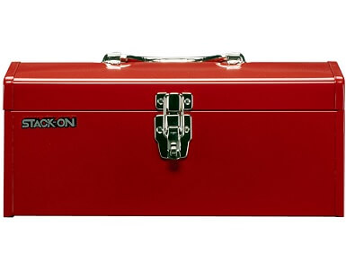 red stack on tool box