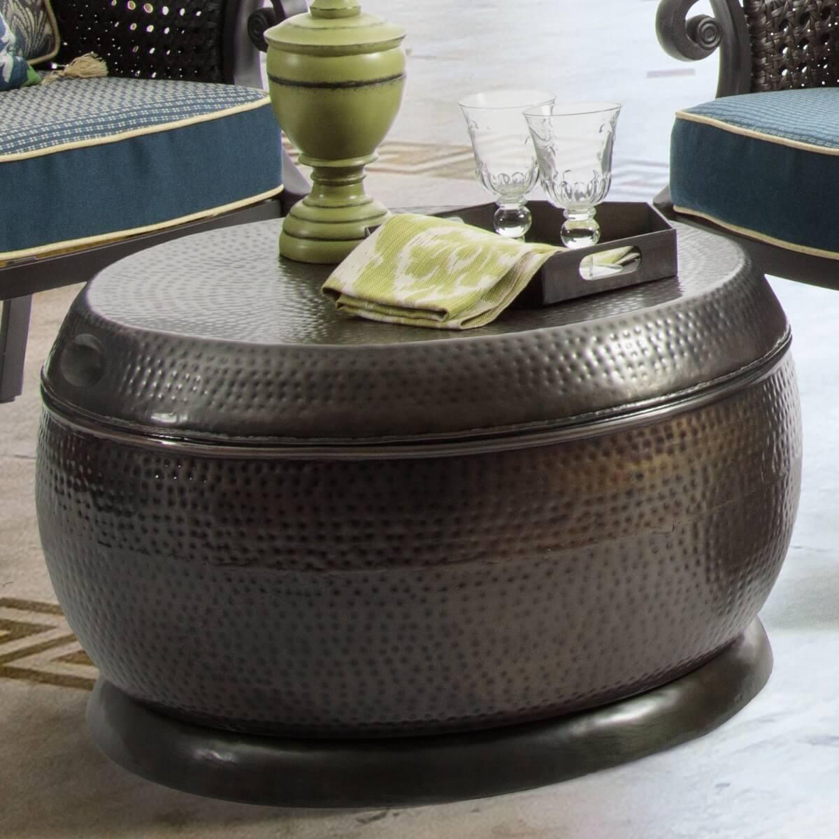 Powder-coated, Steel Coffee Table