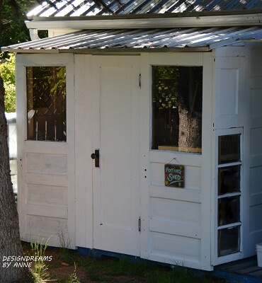 Up-Cycled Door Shed Plans