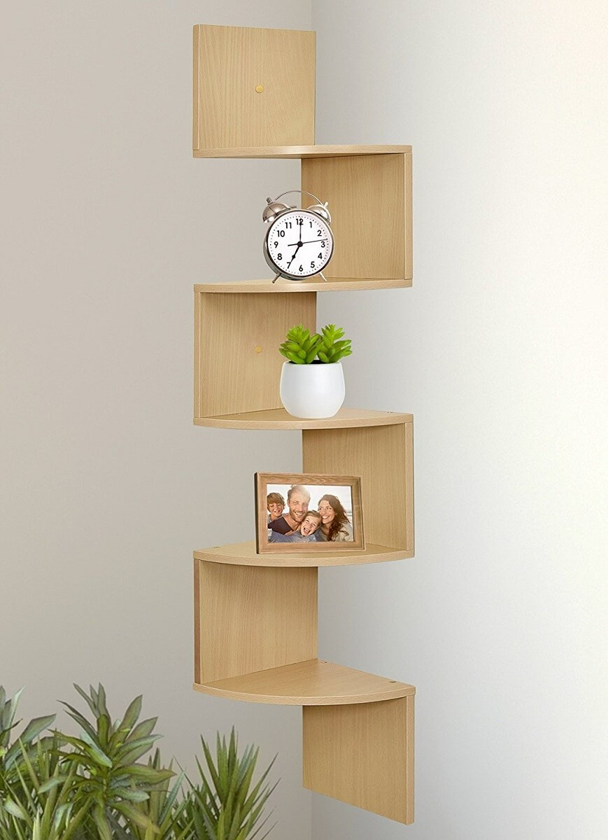5 Tier Floating Corner Shelves