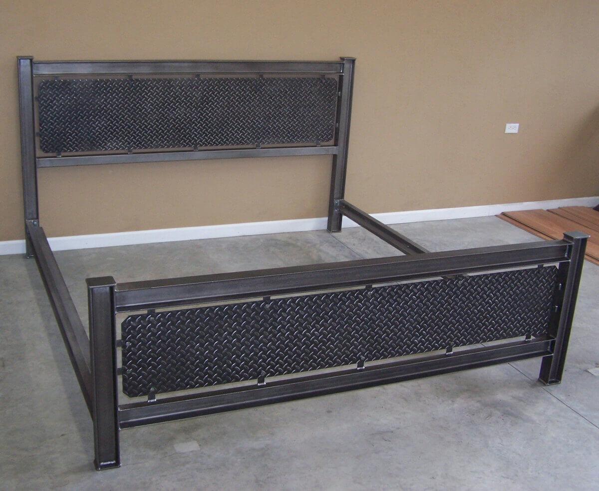 industrial steel bed frame