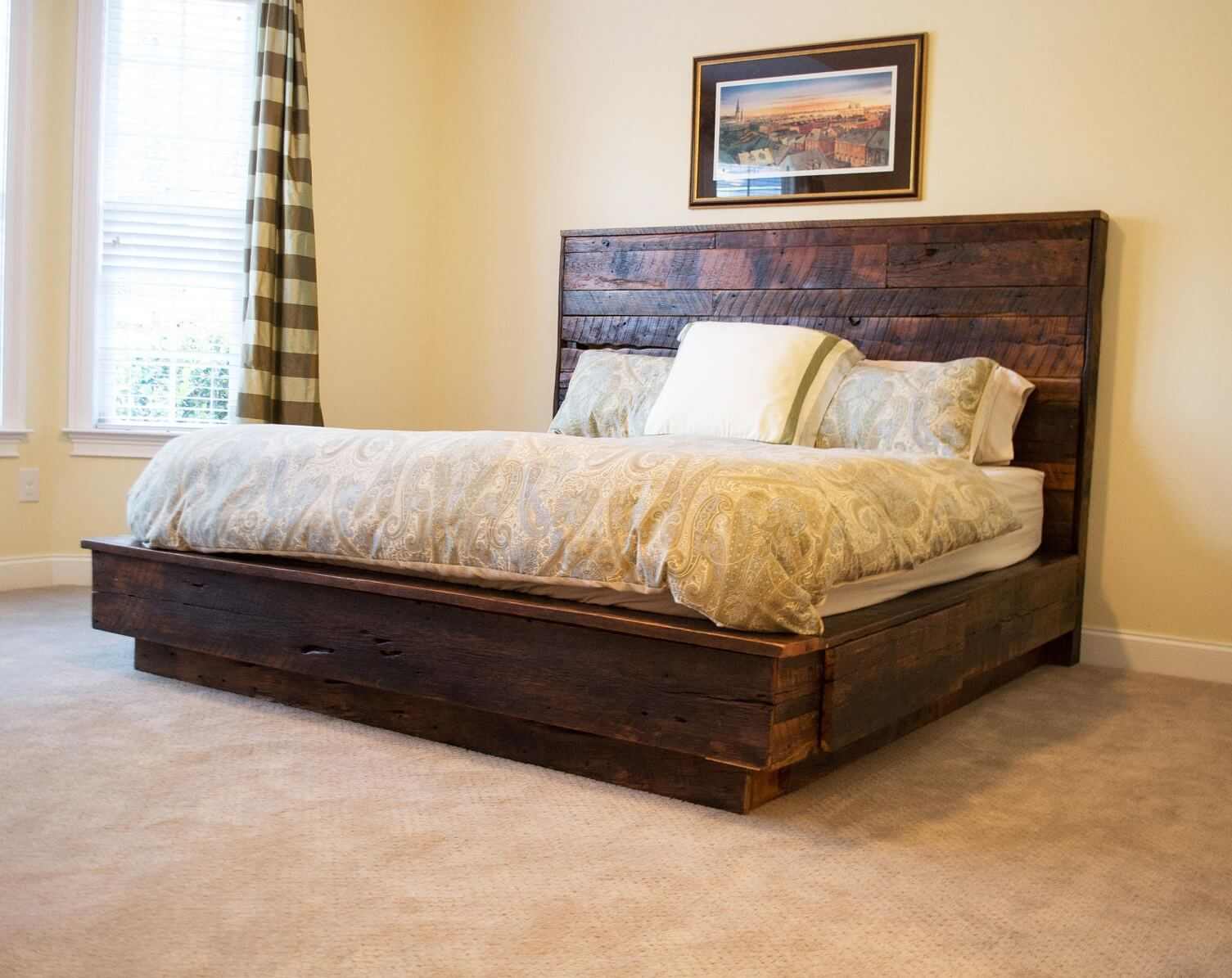 distressed and furniture frames wood metal of bedroom bed luxury