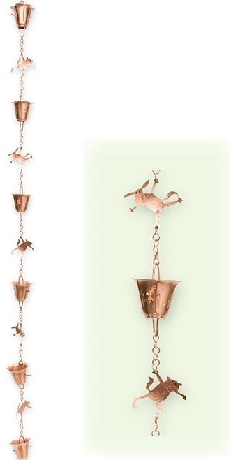 Cats and Dogs Rain Chain