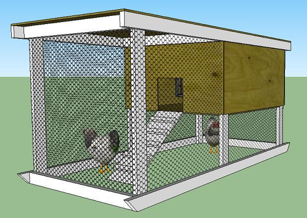 Chicken Tractor With Roost Bar Plans