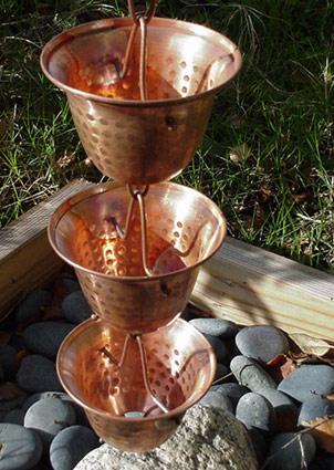 Copper Bell Rain Chains