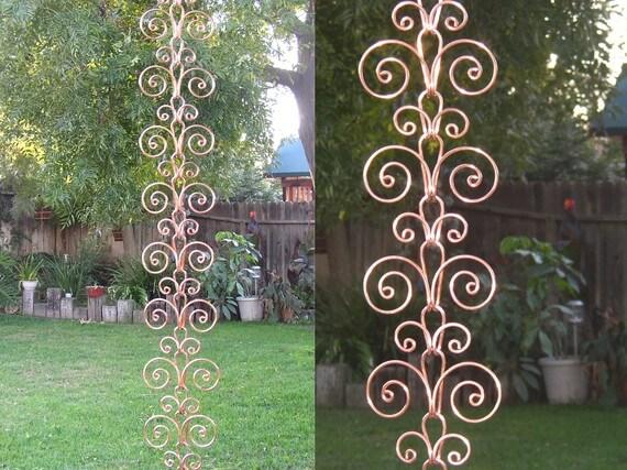 Copper Swirl Rain Chain
