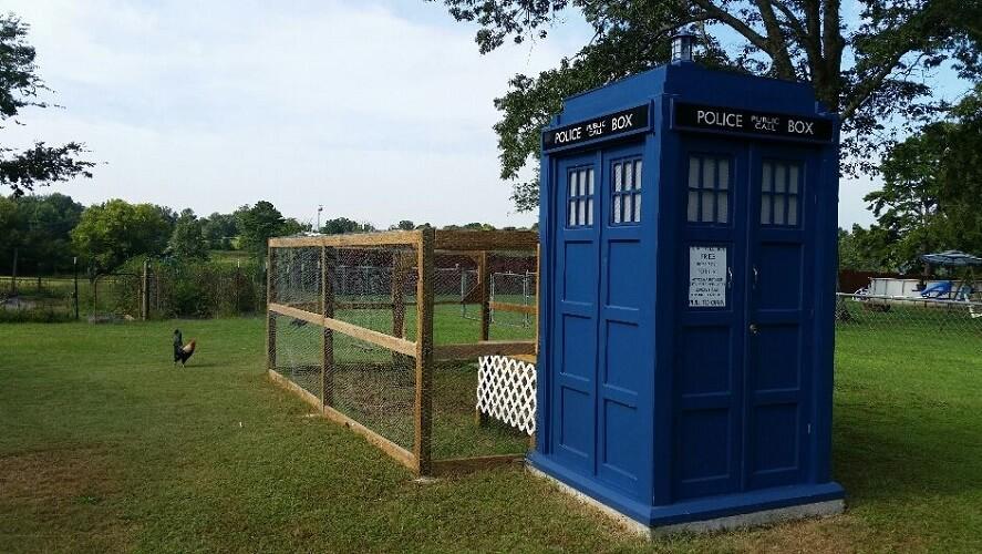 Doctor Who Tardis Chicken Coop