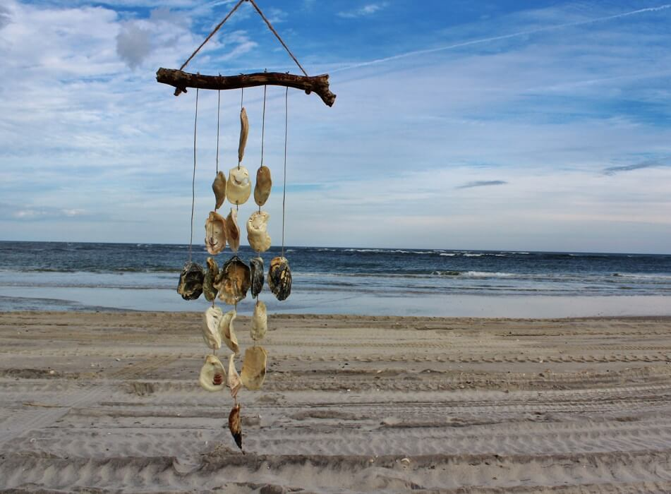 Driftwood and Oyster Shell Wind Chime