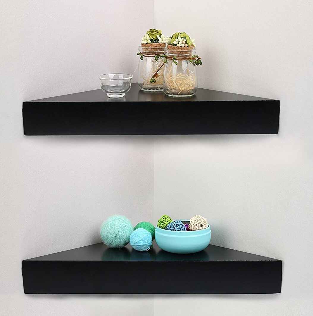 Floating Corner Shelves