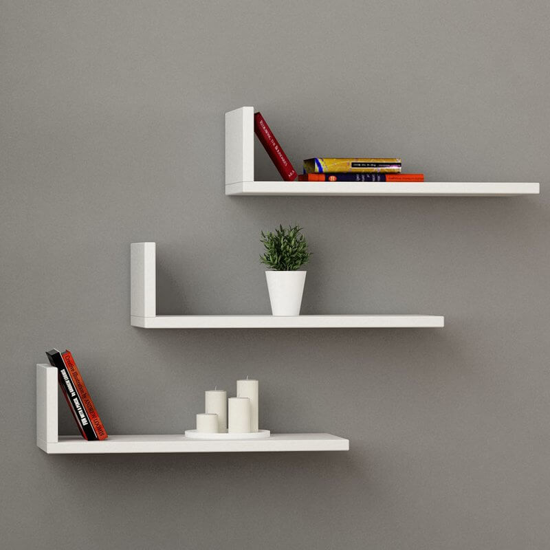 Floating L Shaped Shelves