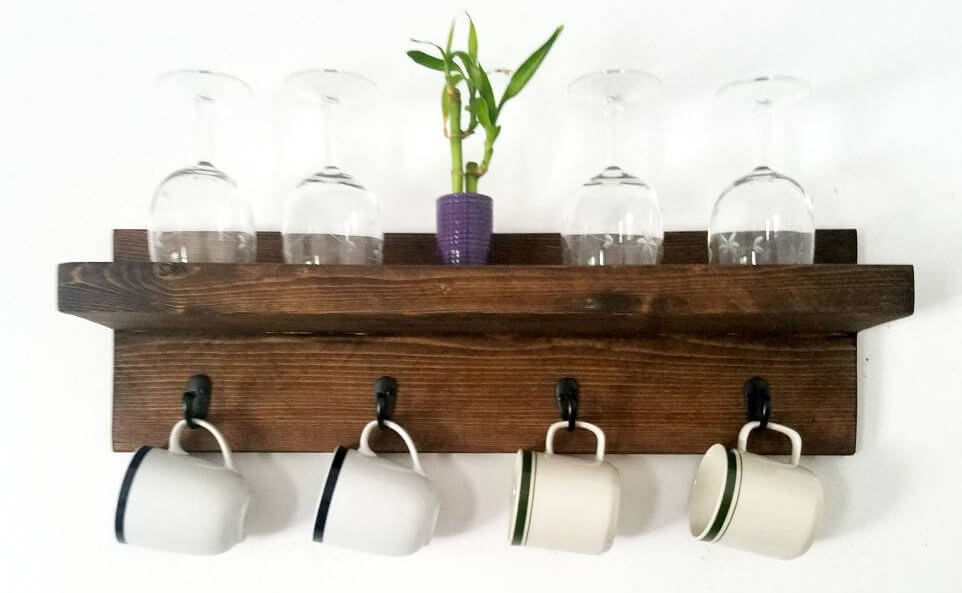 Floating Shelf With Hooks