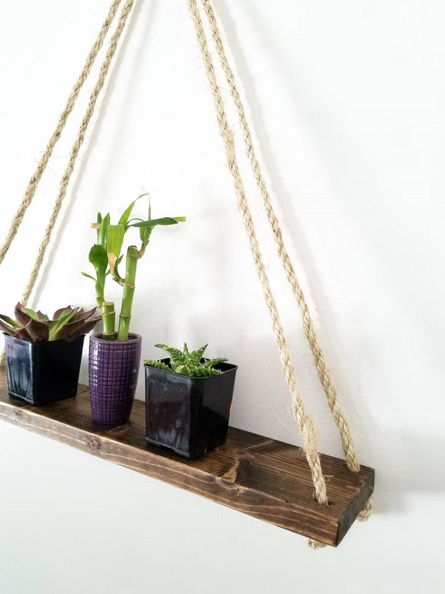 Floating Shelf With Rope