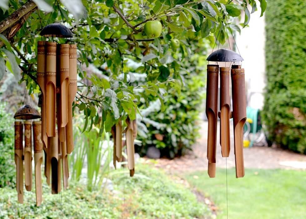 Hand-crafted Wood Wind Chime