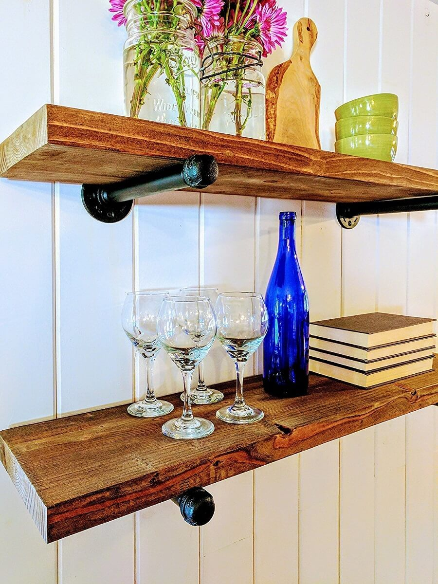 Industrial Floating Shelves