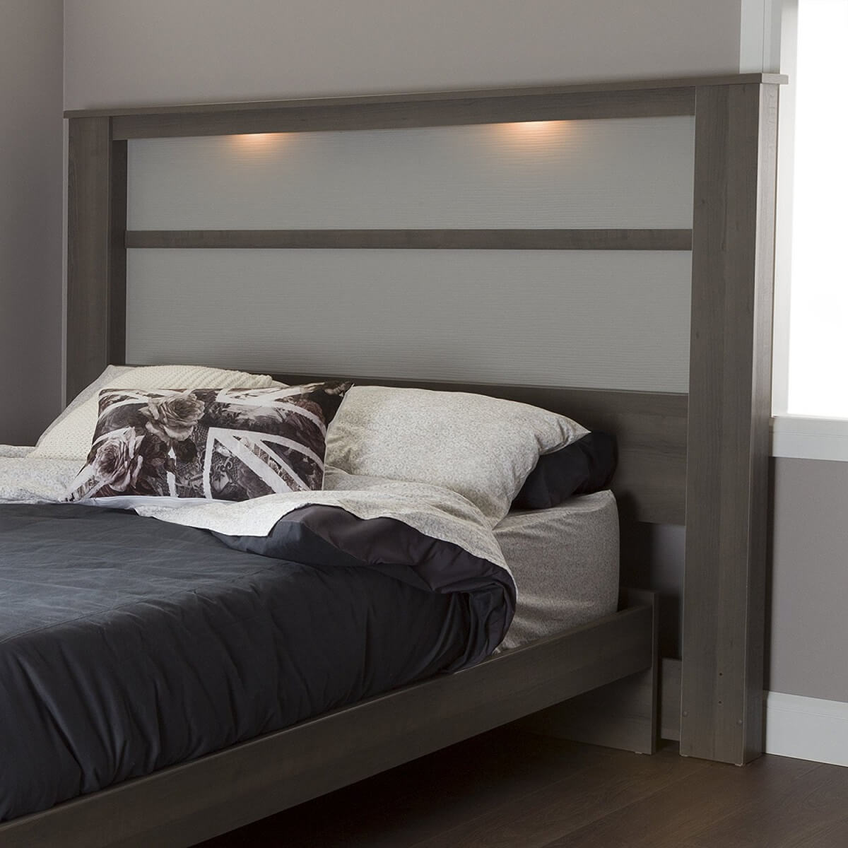 Modern Bed Frame with Built in Lights