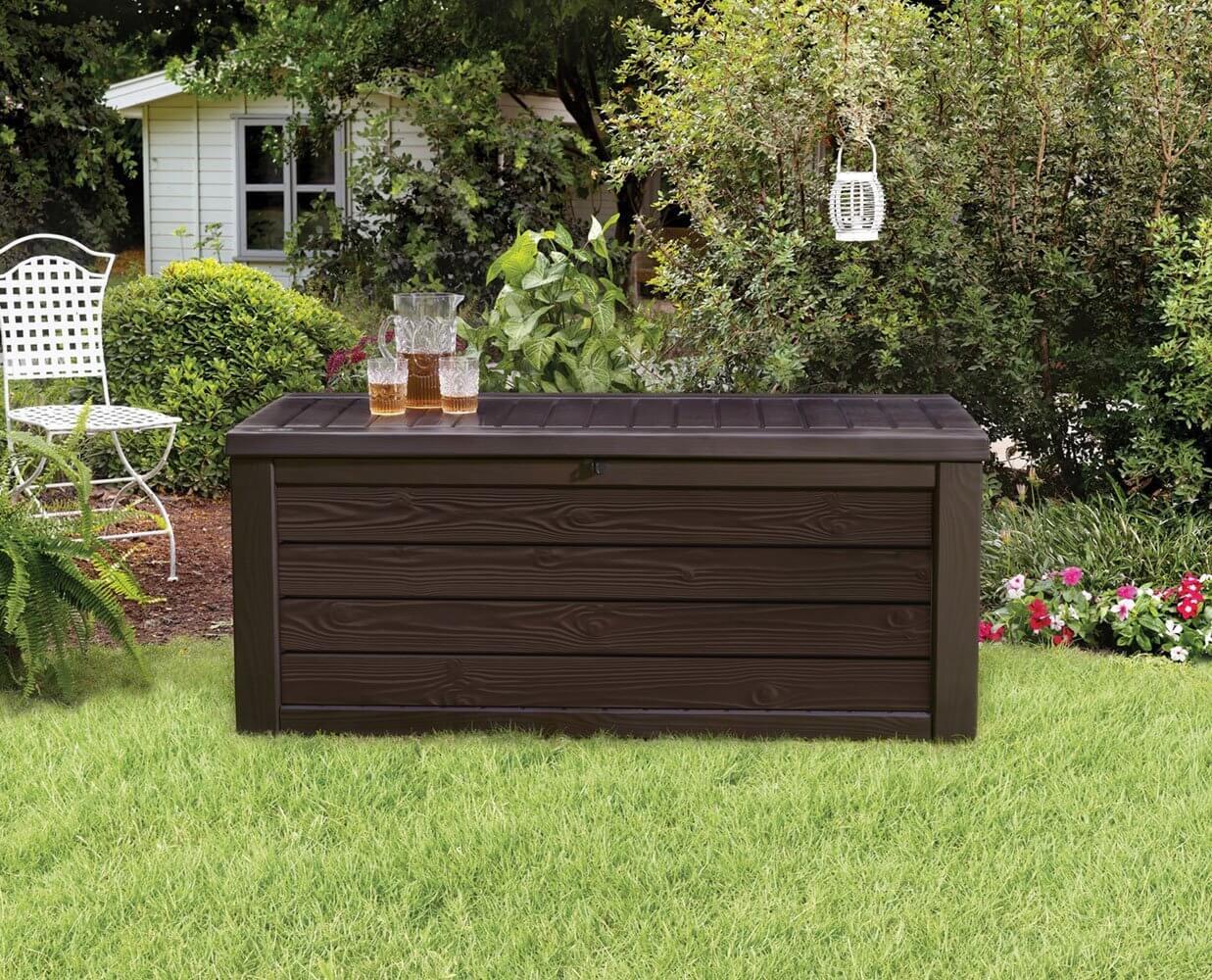 Outdoor Plastic Storage Bench