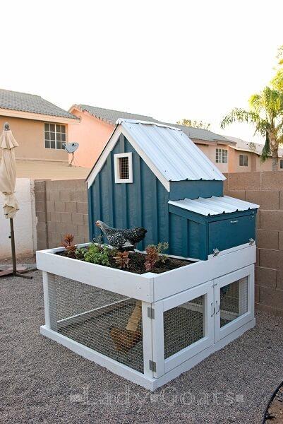 Planter Box Chicken Coop Plans
