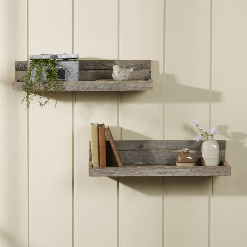 Reclaimed Wood Floating Shelves