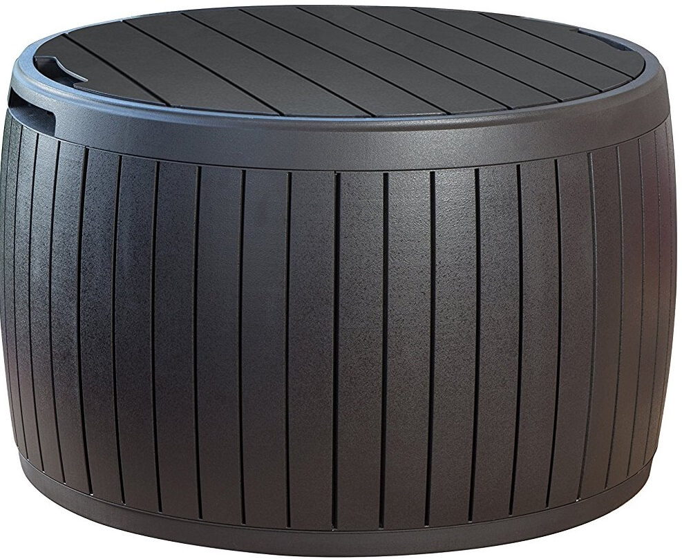 Round Outdoor Storage Bench