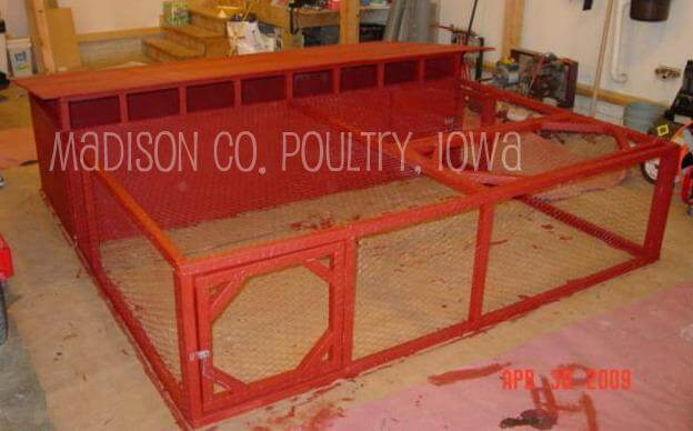 Traditional Red Chicken Tractor Plans