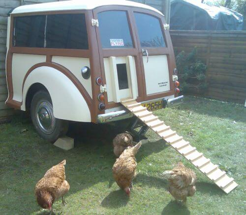 Upcycled Chicken Coop Car