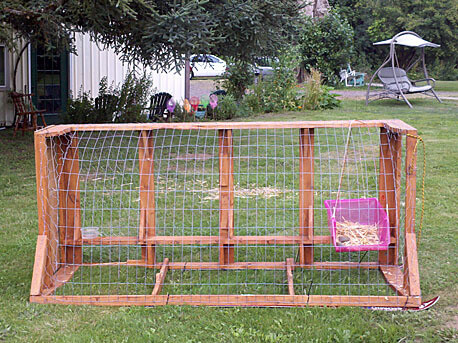 Upcycled Couch Chicken Tractor Plans