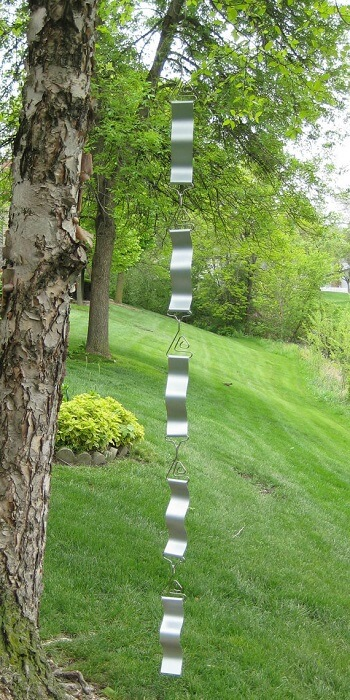 Wave Aluminum Rain Chain