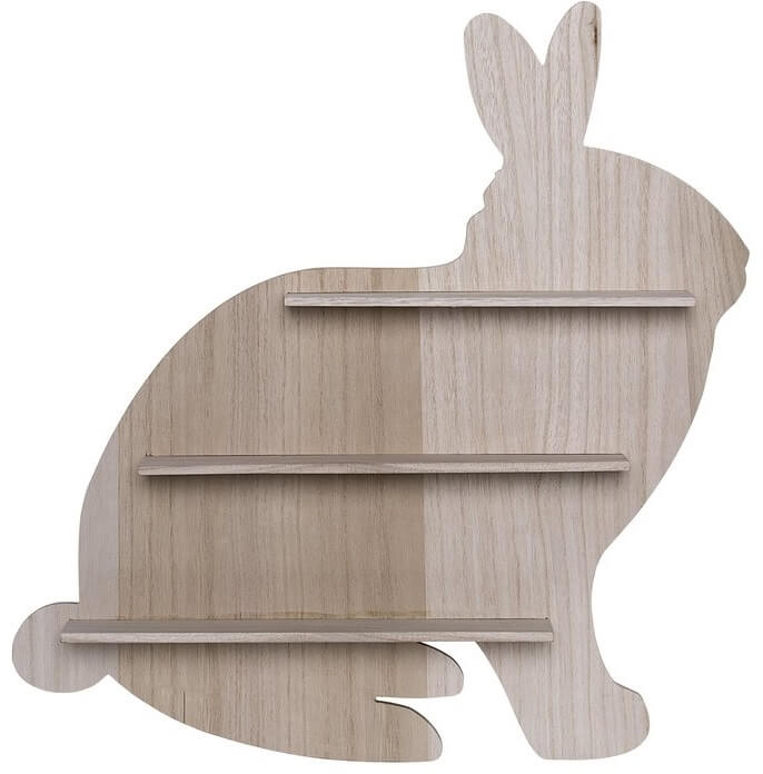 Wooden Bunny Floating Shelf