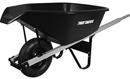 ames brand black wheelbarrow