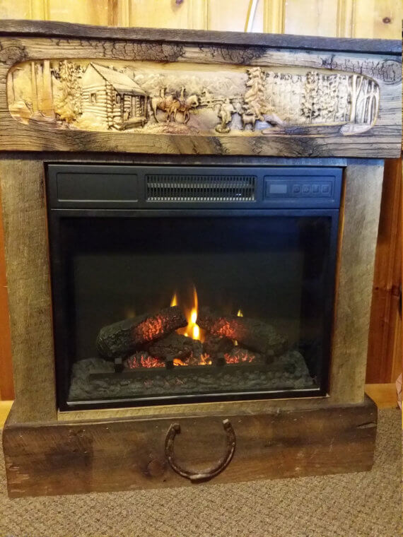 Barnwood Electric Fireplace