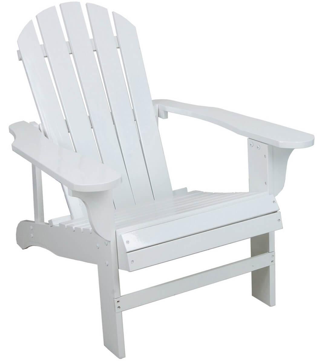 Classic White Adirondack Chair