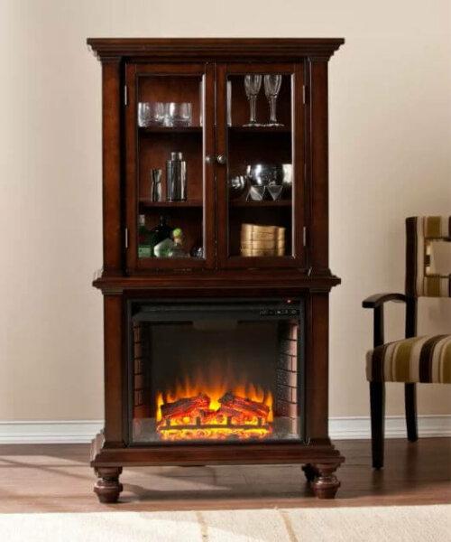 curio electric fireplace