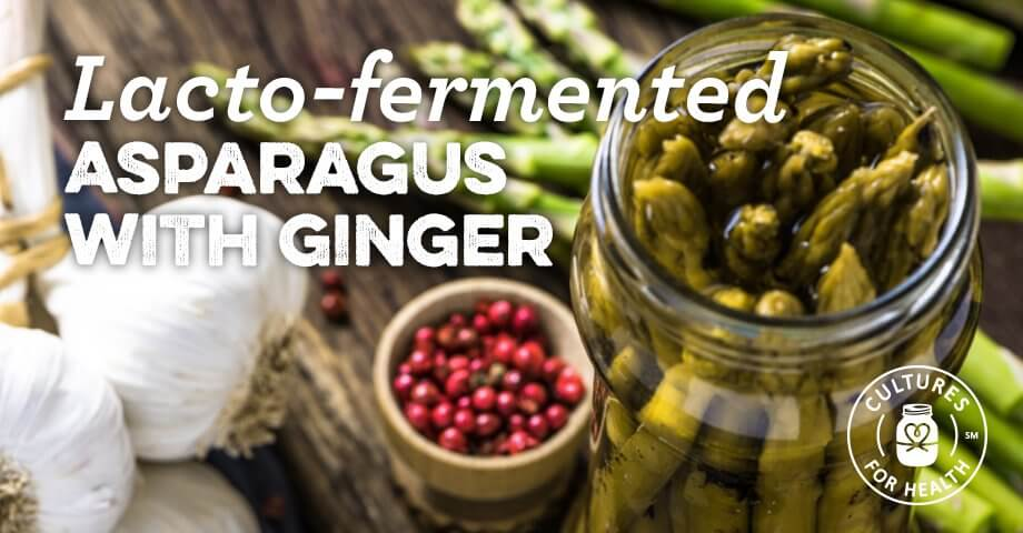 Fermented Asparagus With Ginger