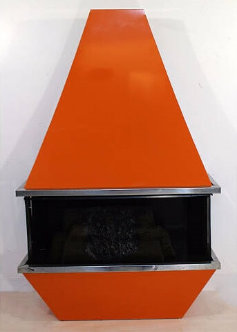 Mid-Century Modern Electric Fireplace