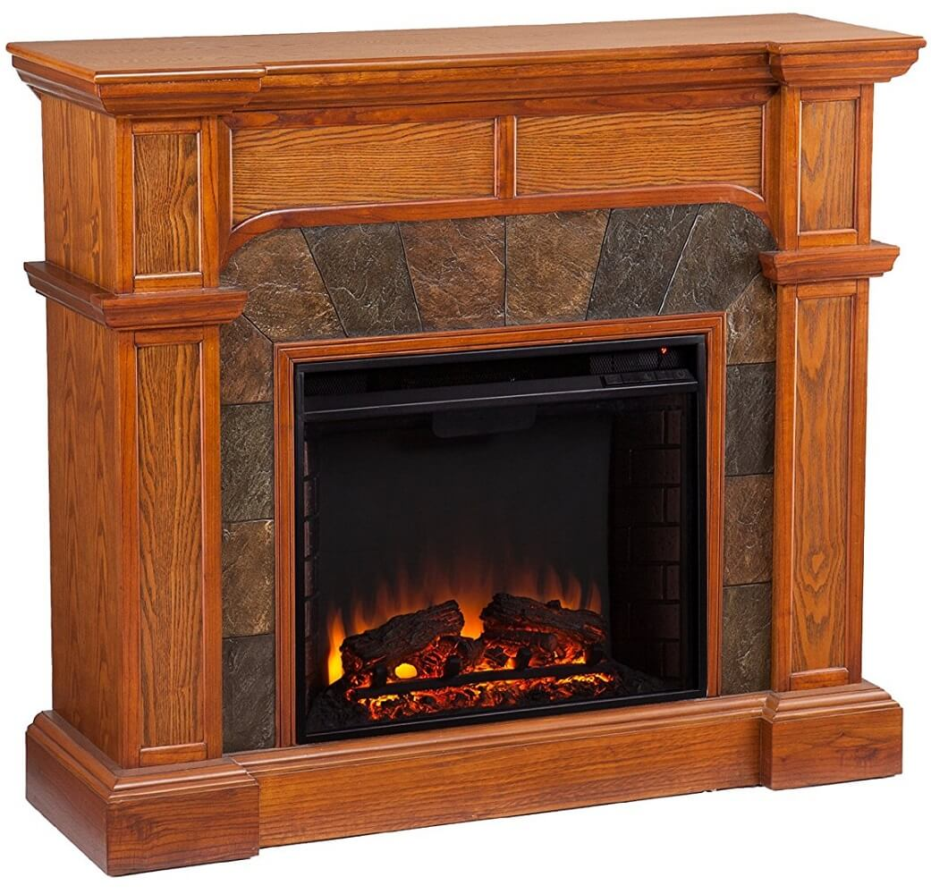 Mission Oak Electric Fireplace