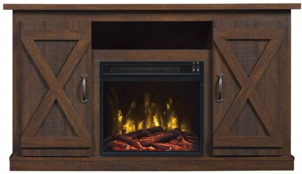 Farmhouse Style Electric Fireplace