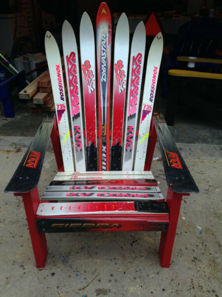 Snow Ski Adirondack Chair