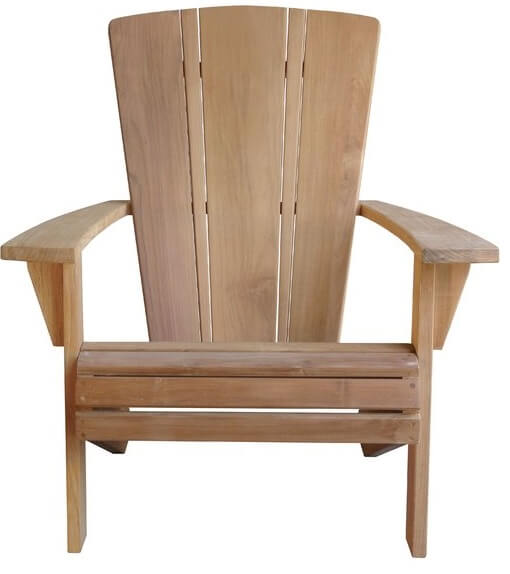 Wooden Plank Adirondack Chair