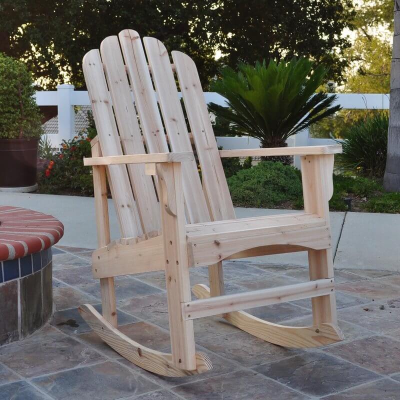 Wooden Rocking Adirondack Chair
