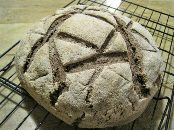 acorn sourdough bread