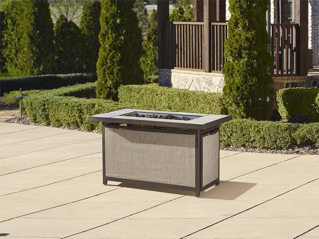 Aluminum Rectangular Fire Pit Table