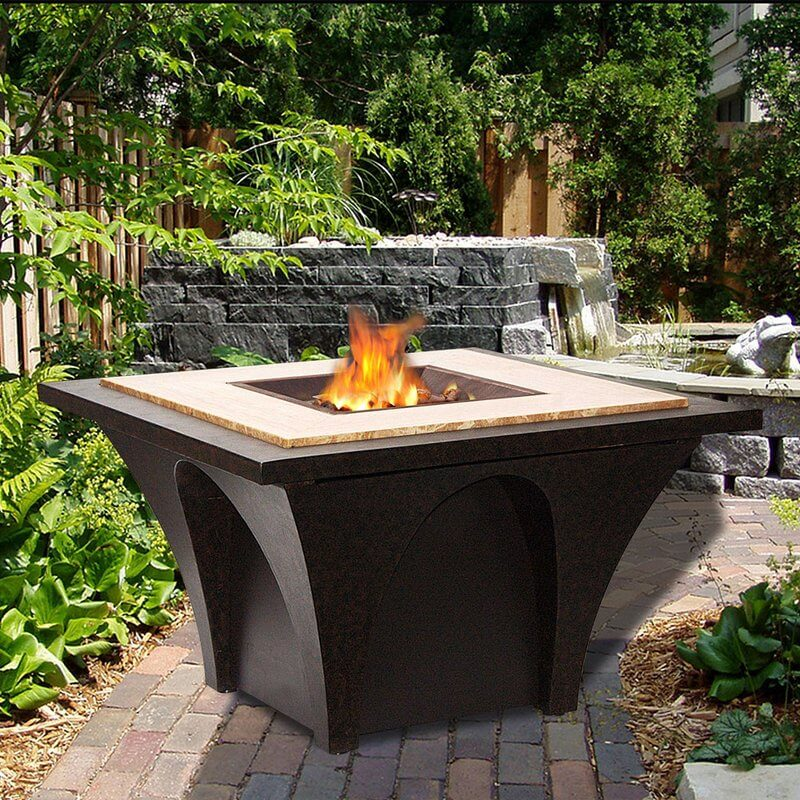 Aluminum Wood-Burning Fire Pit Table