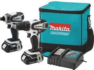 blue makita cordless drill set