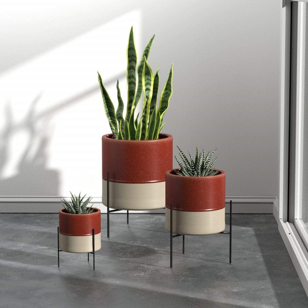 mid-century modern planter