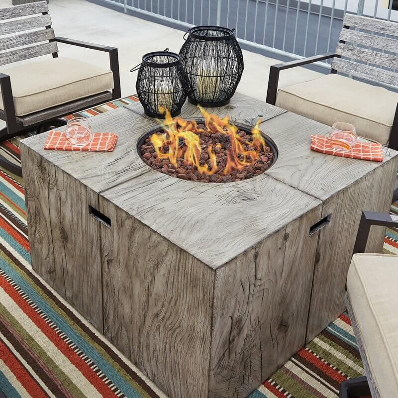 Polyresin Fire Pit Table