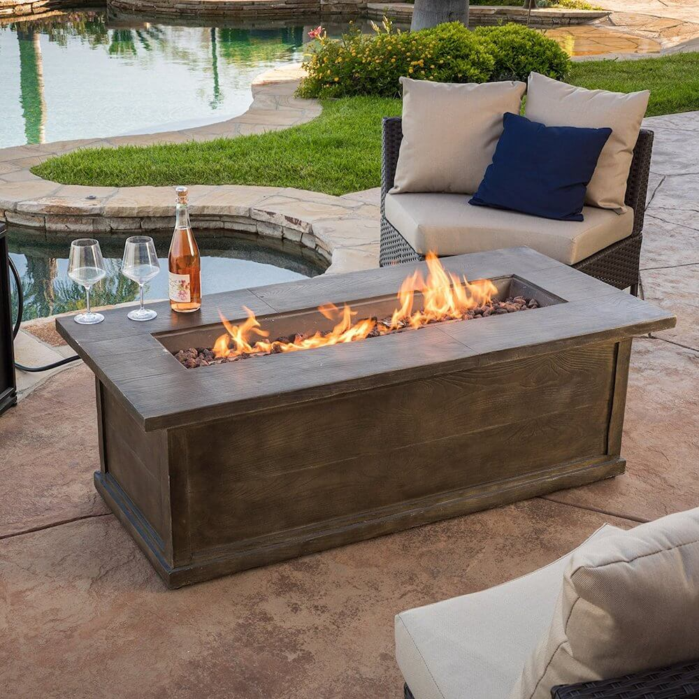 Rectangle Propane Fire Pit Table: Fire Pit Tables €� Insteading
