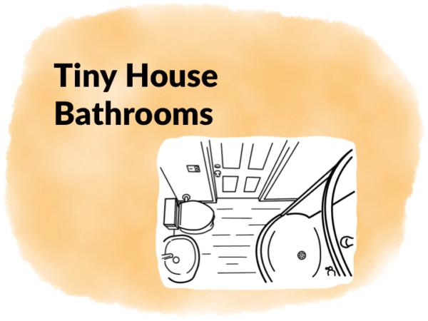 tiny house bathroom illustration